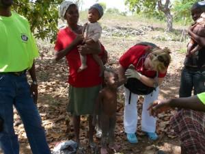 Sue Riggs and children