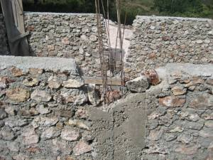 GML Cistern Construction rebar peers