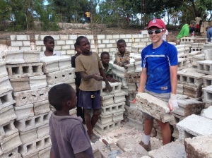 Jake and Friends at the church construction site.