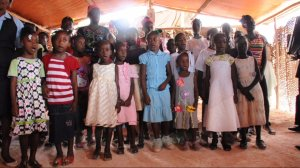 Childrens Choir Singing at  Sunday service