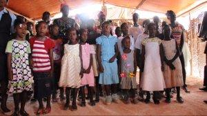 Childrens Choir Singing at  Sunday service
